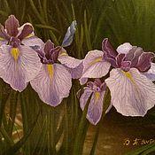 Картины и панно handmade. Livemaster - original item Oil painting Irises.(the cycle of