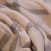 Аксессуары handmade. Livemaster - original item Italian wool pale pink plaid scarf. Handmade.