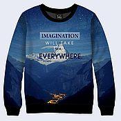 """Одежда ручной работы. Ярмарка Мастеров - ручная работа Свитшот """"Воображение"""". Handmade."""