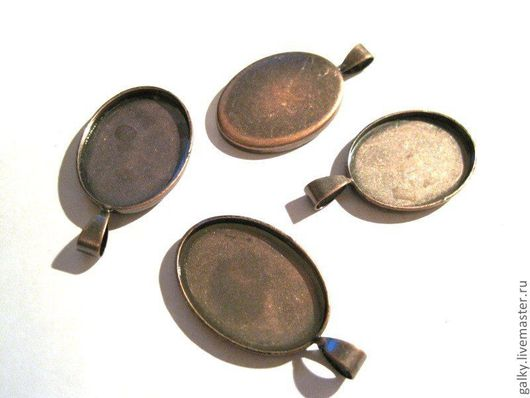 Для украшений ручной работы. Ярмарка Мастеров - ручная работа. Купить Основа для кулона овальная  античная медь. Handmade.