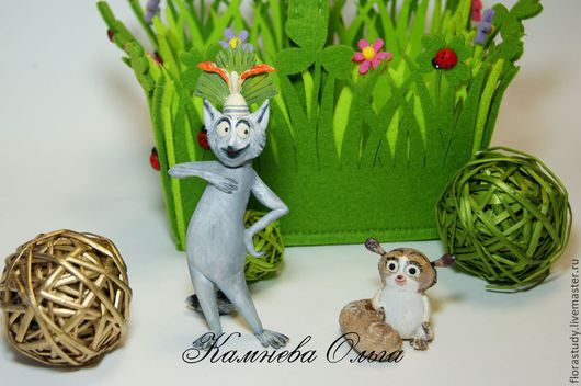 Сказочные персонажи ручной работы. Ярмарка Мастеров - ручная работа. Купить Фигурки, сувениры из Мадагаскар Король Джулиан, Морт, пингвины. Handmade.