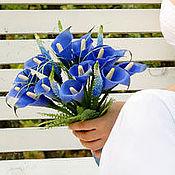 Свадебный салон ручной работы. Ярмарка Мастеров - ручная работа Свадебный букет из синих калл. Handmade.