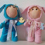 Куклы и игрушки ручной работы. Ярмарка Мастеров - ручная работа Зайки - малыши Степочка и Стеша ( набор 3800 руб). Handmade.