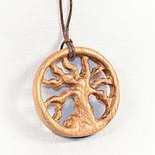 Украшения handmade. Livemaster - original item Pendant - amulet made of wood