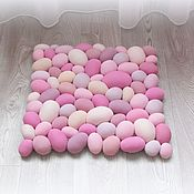 Для дома и интерьера handmade. Livemaster - original item Massage Mat textile Imitation of pebbles All shades of pink. Handmade.