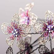 """Украшения ручной работы. Ярмарка Мастеров - ручная работа Шпильки """"Silver, rose and purple"""". Handmade."""