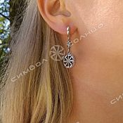Русский стиль handmade. Livemaster - original item Rotifer Earrings №2. Handmade.