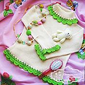 Работы для детей, ручной работы. Ярмарка Мастеров - ручная работа Бамбук кофточка детская  (бамбуковая пряжа). Handmade.