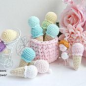 Куклы и игрушки handmade. Livemaster - original item Knitted ice cream,sweets. Handmade.