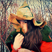 Hoods handmade. Livemaster - original item Witch Molly Rowe hat-hood with drape. Handmade.