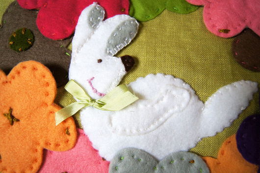 Текстиль, ковры ручной работы. Ярмарка Мастеров - ручная работа. Купить льняная подушка - Радостный кролик. Handmade. Подушка, подарок