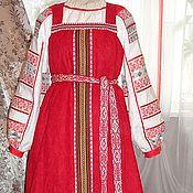 Одежда ручной работы. Ярмарка Мастеров - ручная работа сарафан красный. Handmade.