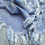 handmade. Livemaster - original item Scarf felted women`s BLIZZARD. Handmade.