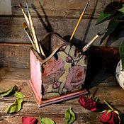 Канцелярские товары handmade. Livemaster - original item Pencil holder roses. Handmade.
