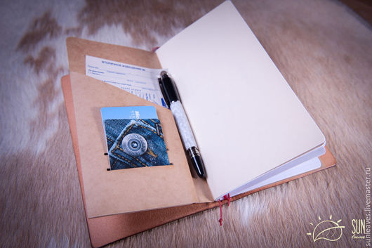 Папки для бумаг ручной работы. Ярмарка Мастеров - ручная работа. Купить Бумажная папка-карман для Midori Traveler's Journal. Handmade.