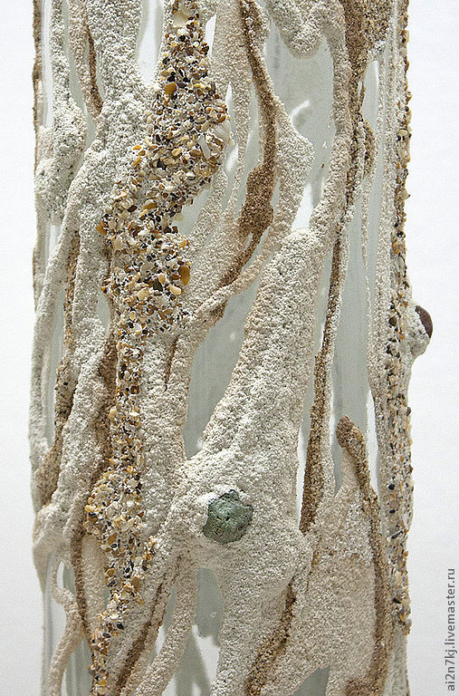 """Вазы ручной работы. Ярмарка Мастеров - ручная работа. Купить ваза с песочным декором """"КОРИЦА"""". Handmade. Бежевый, ваза, песочный"""