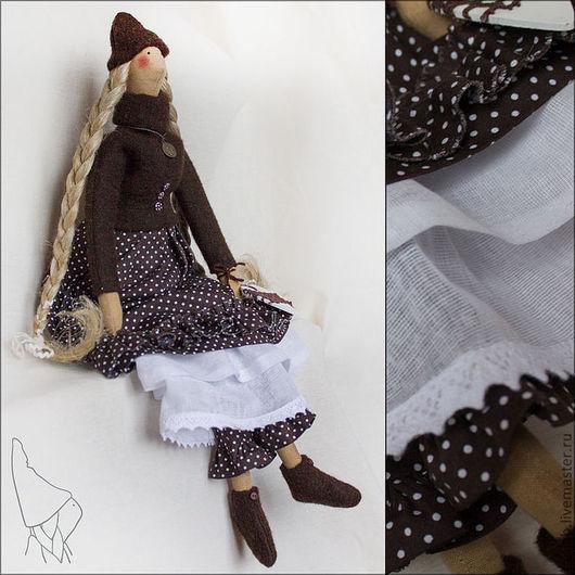 Куклы Тильды ручной работы. Ярмарка Мастеров - ручная работа. Купить Ювина, кукла в стиле Тильда. Handmade. Коричневый, тильда
