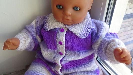 Одежда ручной работы. Ярмарка Мастеров - ручная работа. Купить комбинезон для  новорожденных. Handmade. В полоску, теплый комбинезон