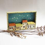 Картины и панно handmade. Livemaster - original item Panels: Houses, wall decor. Handmade.