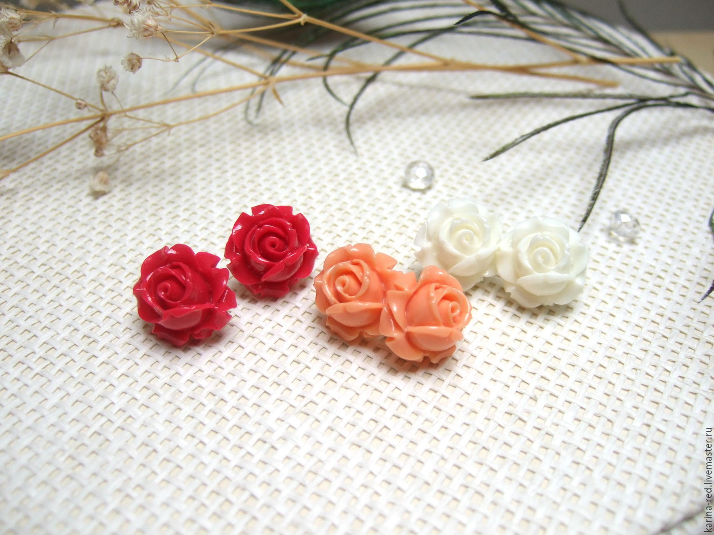 серьги фото гвоздики розы купить украшения ручной работы магазин подарков интернет магазин украшений купить подарок серьги фото нежные розы серьги купить украшения розами красный алый оранжевый белый