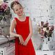 Одежда для девочек, ручной работы. Ярмарка Мастеров - ручная работа. Купить Платье на выпускной. Handmade. Ярко-красный