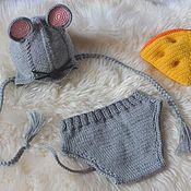 """Работы для детей, ручной работы. Ярмарка Мастеров - ручная работа Комплект для фотосессии """"Мышонок"""". Handmade."""