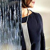 """Украшения ручной работы. Ярмарка Мастеров - ручная работа """"Серебряный дождь"""" украшение на шею с кистью. Handmade."""