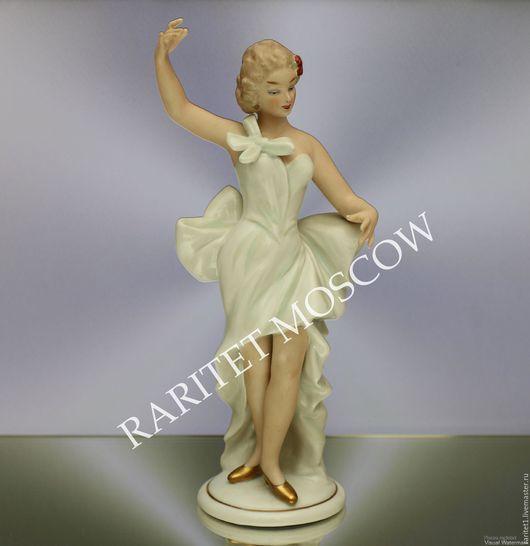 Винтажные предметы интерьера. Ярмарка Мастеров - ручная работа. Купить Девушка танцовщица балерина Валлендорф Германия. Handmade. Разноцветный, балерина