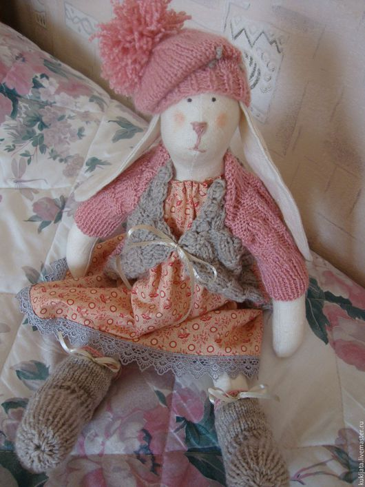 Куклы Тильды ручной работы. Ярмарка Мастеров - ручная работа. Купить Зайка Лина. Handmade. Розовый, подарок на любой случай