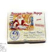 Подарки к праздникам handmade. Livemaster - original item Sweet parcel from Santa Claus.. Handmade.