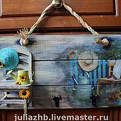 Для дома и интерьера handmade. Livemaster - original item Blue chair, yellow sunflowers and lots of sunshine. Handmade.