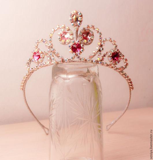 Диадемы, обручи ручной работы. Ярмарка Мастеров - ручная работа. Купить диадема принцесса София. Handmade. Розовый, диадема для детей