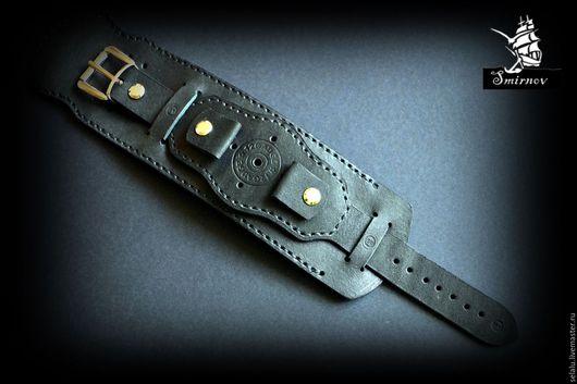 Часы ручной работы. Ярмарка Мастеров - ручная работа. Купить Широкий ремешок ручной авторской работы для наручных часов.. Handmade.