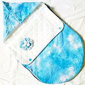 """Работы для детей, ручной работы. Ярмарка Мастеров - ручная работа Конверт на выписку """"облачные мечты"""". Handmade."""