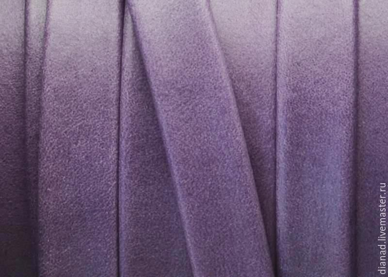Кожаный шнур 10х2мм Denver, тёмно-фиолетовый. Испания, Шнуры, Москва, Фото №1