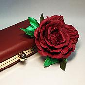 Украшения ручной работы. Ярмарка Мастеров - ручная работа Брошь-роза из натуральной кожи. Handmade.