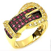 "Украшения handmade. Livemaster - original item Ring ""Fashion thing"" made of silver 925 with gold plated. Handmade."