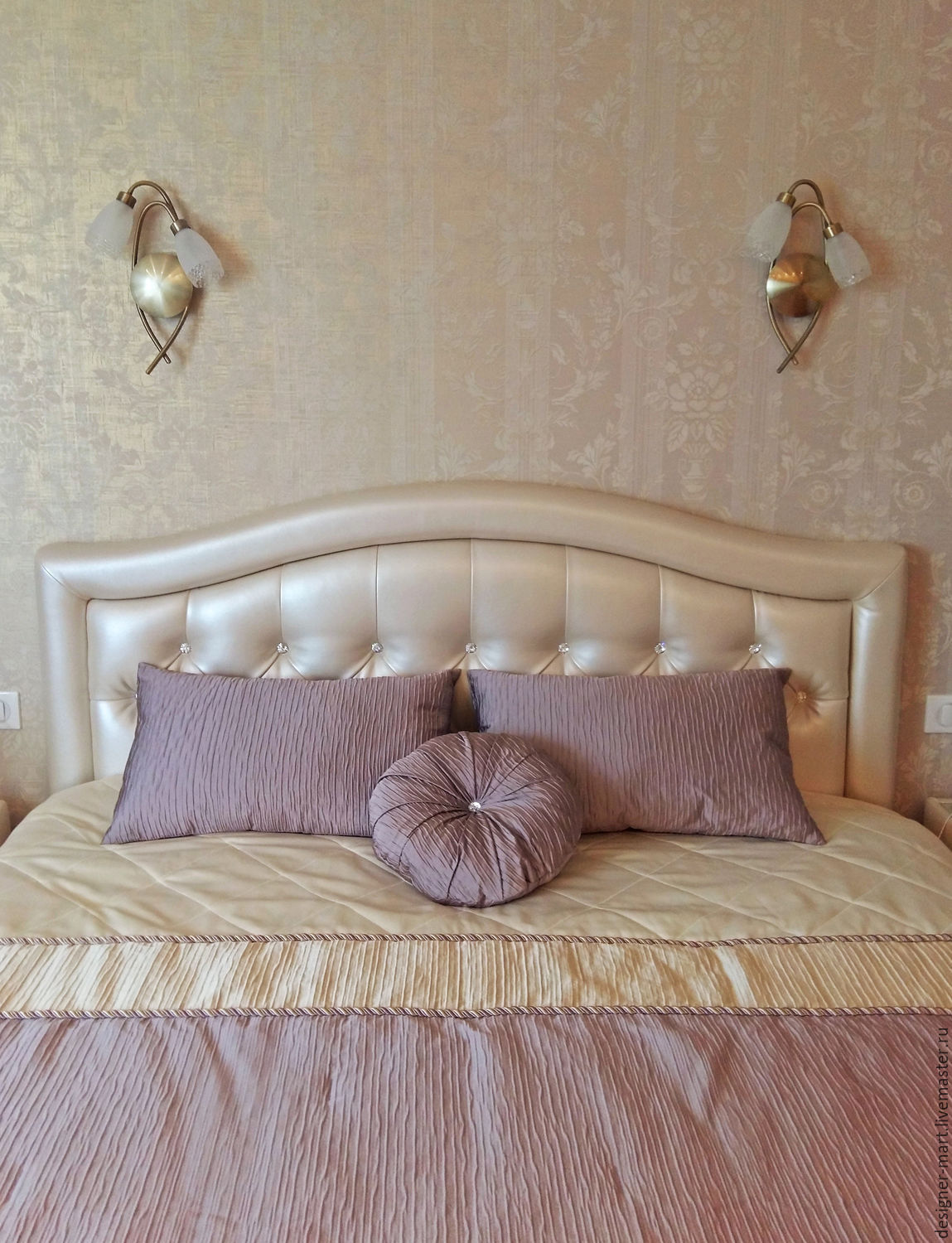 Lilac bedroom sets, Curtains1, Moscow,  Фото №1
