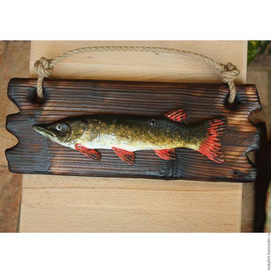 Животные ручной работы. Ярмарка Мастеров - ручная работа. Купить Щука (р05). Handmade. Комбинированный, рыба, рыбаку, сувенир