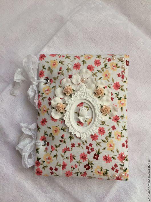 Блокноты ручной работы. Ярмарка Мастеров - ручная работа. Купить Блокнотик. Handmade. Комбинированный, хлопок 100%, шебби лента