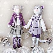 """Куклы и игрушки ручной работы. Ярмарка Мастеров - ручная работа Кошки """"Наши сани едут сами"""". Handmade."""