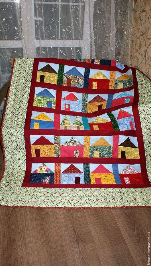 Текстиль, ковры ручной работы. Ярмарка Мастеров - ручная работа. Купить СКИДКА 10% (от цены)Лоскутное одеяло домики-2. Handmade.