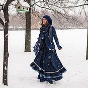 """Одежда ручной работы. Ярмарка Мастеров - ручная работа Шерстяная юбка """"Морозные цветы"""". Handmade."""