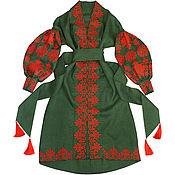 "Одежда handmade. Livemaster - original item Long dress ""Copper Flower"". Handmade."