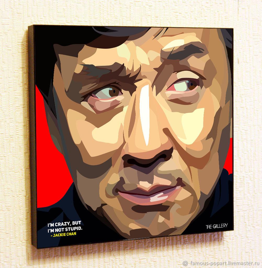 Картина постер Джеки Чан 2 с стиле Поп Арт, Фотокартины, Москва,  Фото №1