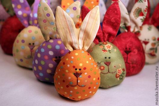 Подарки на Пасху ручной работы. Ярмарка Мастеров - ручная работа. Купить Пасхальные зайцы-яйца. Handmade. Пасха, тестильный заяц