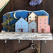 Для дома и интерьера handmade. Livemaster - original item Wall-mounted housekeepers: « Velvet Night». Handmade.