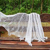 Аксессуары handmade. Livemaster - original item Milk-colored gossamer shawl. Handmade.
