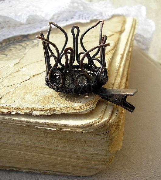 """Заколки ручной работы. Ярмарка Мастеров - ручная работа. Купить Заколка корона """"Для лучшей в мире принцессы"""". Handmade. Корона"""