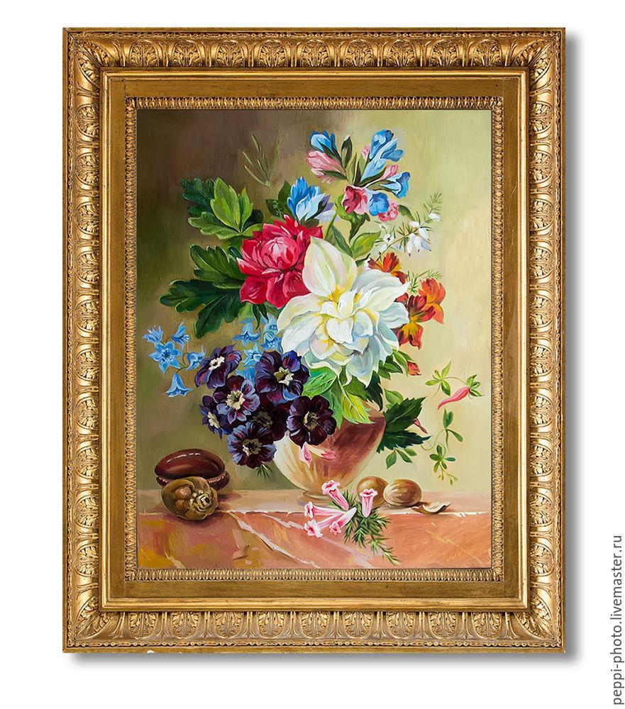 """Картина маслом """"Букет цветов в вазе"""", Картины, Санкт-Петербург,  Фото №1"""